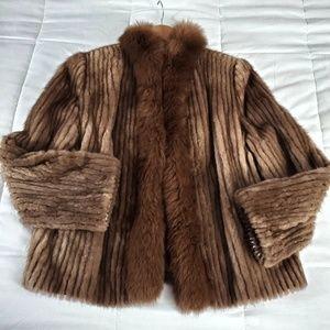 100% Real Mink Fur coat